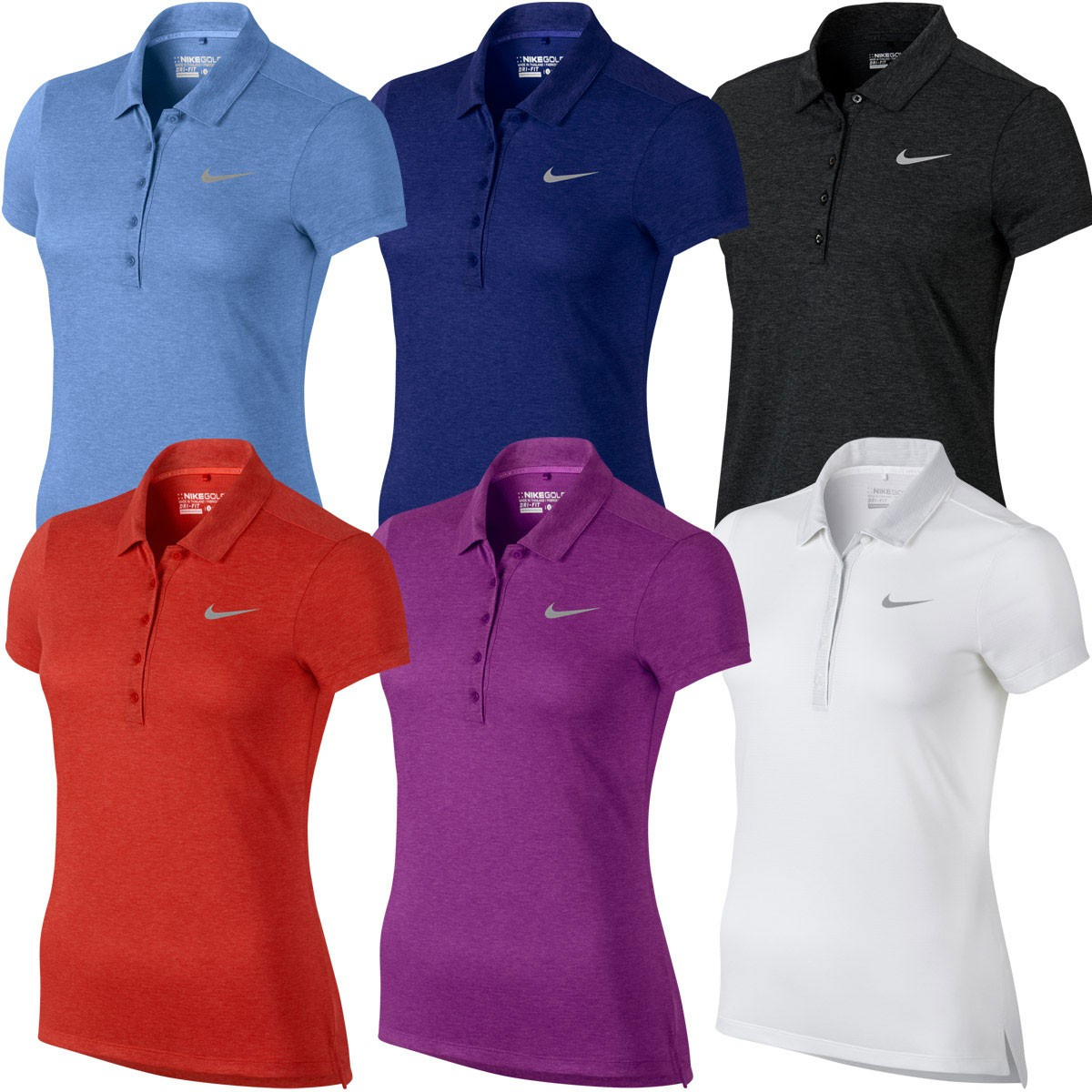 Nike golf 2016 womens precision heather dri fit for Women s dri fit golf shirts