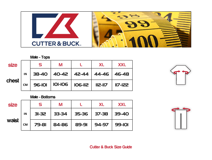 Cutter buck mens 39 tour 39 drytec event golf polo shirt ebay for Cutter buck polo shirt size chart